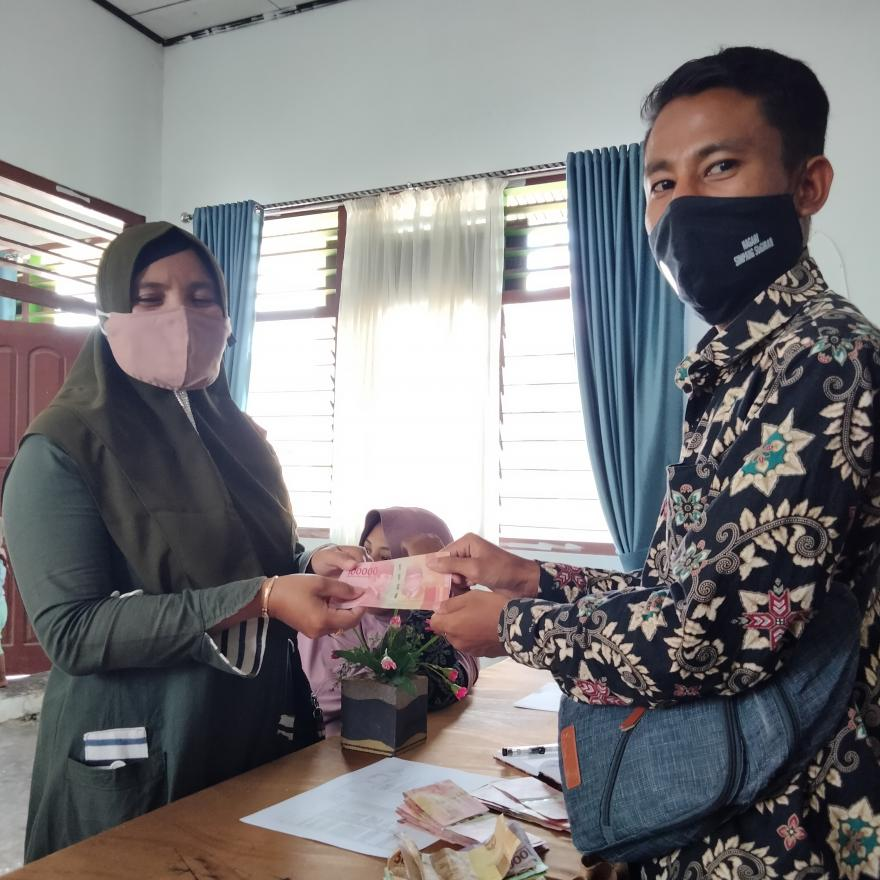 Pemberian Insentif  Honor Guru TK Bulan April - Juni 2021