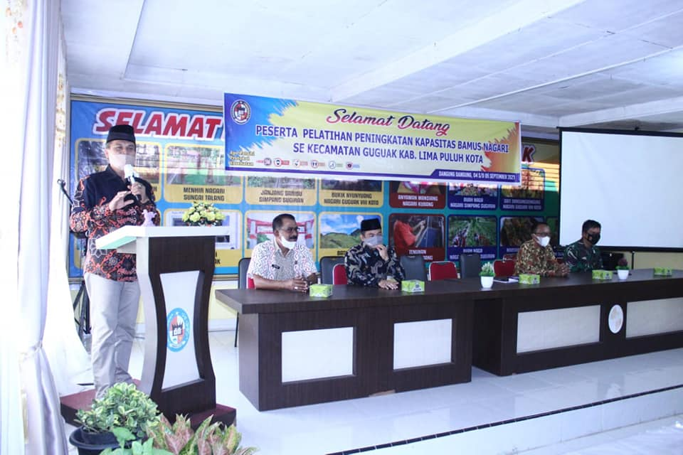 Pelatihan Peningkatan Kapasitas Badan Musyawarah (Bamus) Nagari Sekecamatan Guguak