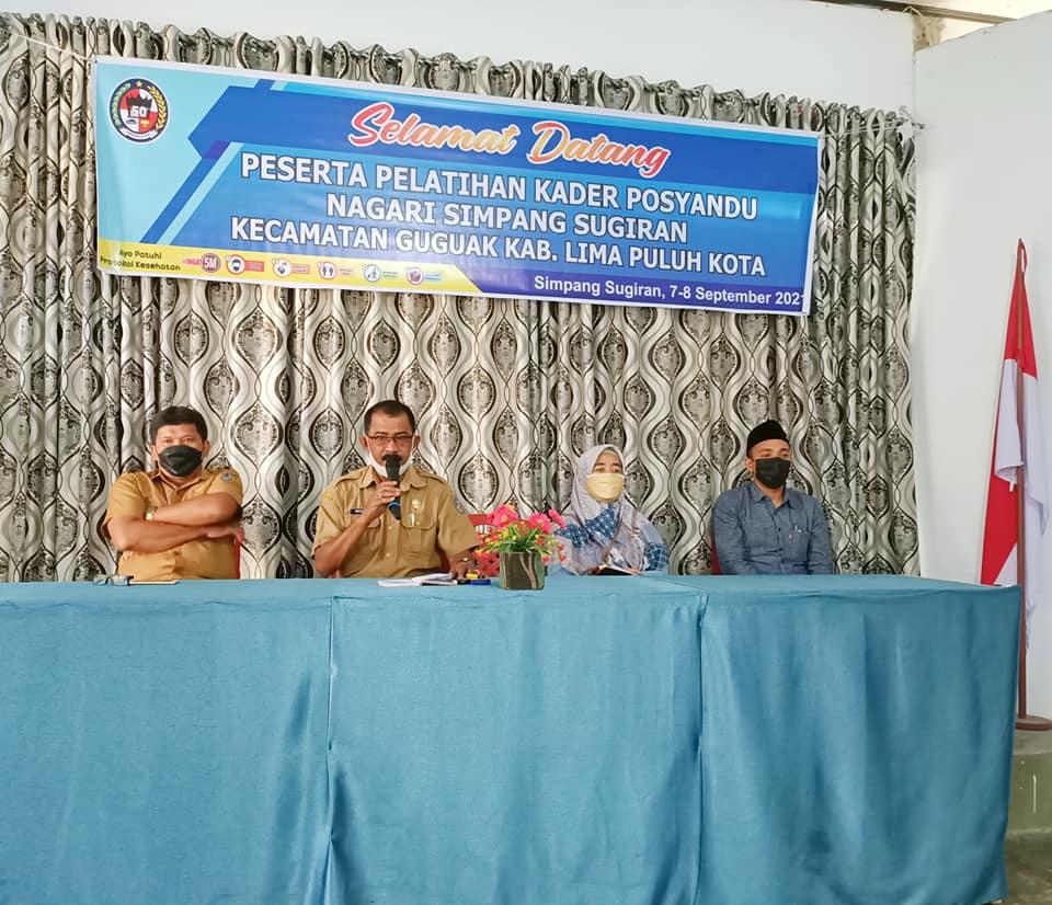 Pelatihan Kader Pos Yandu Nagari Simpang Sugiran